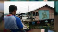 Rumah apung yang dihuni empat teroris Purwakarta, Jawa Barat. (Liputan6.com/Abramena)