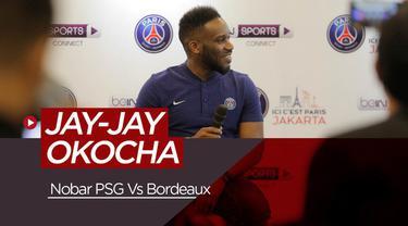 Berita video mantan pemain PSG, Jay-Jay Okocha akan membuka secara langsung nobar antara Les Parisiens menghadapi Bordeaux di Kemang, Jakarta Selatan.
