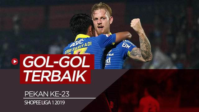 Berita video gol-gol terbaik yang tercipta pada pekan ke-23 Shopee Liga 1 2019.