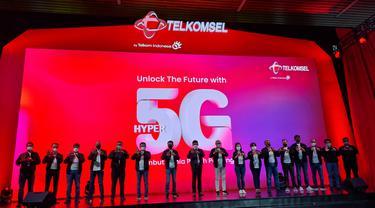 Peluncuran layanan 5G Telkomsel. Liputan6.com/Agustinus Mario Damar