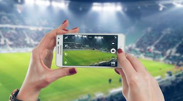 Ilustrasi smartphone, kamera smartphone