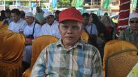 Khairani penyandang tuna netra yang menguliahkan anaknya (Radar Banjarmasin/ Jawa Pos Group)