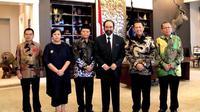 Pimpinan MPR RI bersama Ketua Umum Partai Nasdem, Surya Paloh.