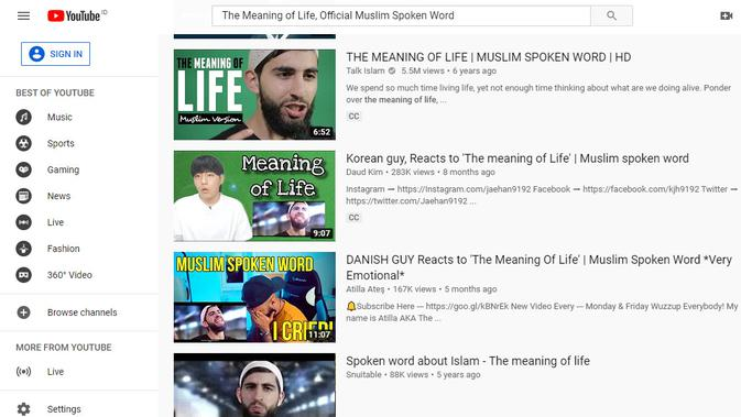 [Cek Fakta] Video Ini Sering di Hapus Youtube Karena Membuat Banyak Orang Masuk Islam? Ini Faktanya