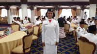 Gloria Natapradja Hamel Sedang Bersiap Ikut Paskibraka (Foto: Aditya Eka P)