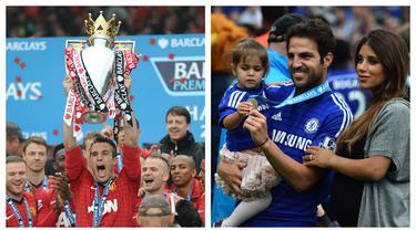 Setelah meraih gelar Premier League pada musim 2001/2002 dan 2003/2004, Arsenal kesulitan untuk meraih gelar berikutnya hingga musim ini. Banyak pemain yang akhirnya hengkang ke tim lain dan sukses meraih gelar. Berikut 7 pemain tersebut. (Kolase Foto AFP)