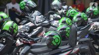 Transportasi online kendaraan motor  terintegrasi dengan stasiun MRT di Lebak Bulus, Jakarta, Selasa (15/10/2019).  (merdeka.com/Imam Buhori)