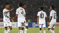 Timnas Timor Leste U-16 menelan kekalahan 0-3 dari Timnas Indonesia U-16. (Bola.com/Aditya Wany)