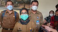 Bupati Lebak, Iti OCtavia Jayabaya, Antisipasi Pemudik Idul Fitri 2021. (Senin, 29/03/2021). (Liputan6.com/Yandhi Deslatama).