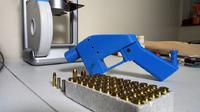 Pistol 3D yang komponennya sedang dibuat. (Robert Macpherson / AFP )