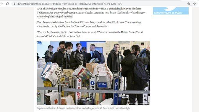 Cek Fakta: Pusat Perbelanjaan Jepang Diskon Harga Masker? Cek Faktanya (Screenshot/DW)