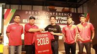 Elevenia resmi menjadi partner Bali United tahun ini. (Windi Wicaksono)