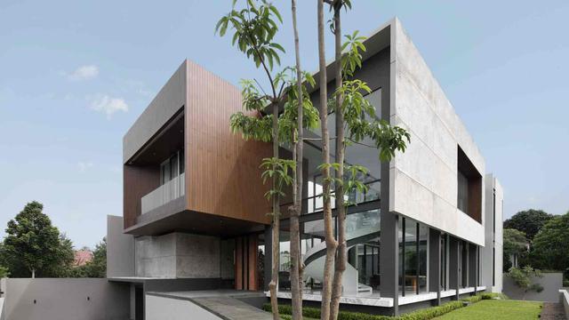 Desain Rumah Minimalis Modern Dengan Tangga Putar Lifestyle Liputan6 Com