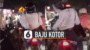 VIDEO: Bawa Motor Tanpa Spakbor, Baju Pacar Jadi Kotor