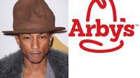Apa yang membuat Pharell Williams berbeda dibanding dengan penyanyi lainnya? tentu saja ciri khasnya: topi tinggi berwarna coklat.