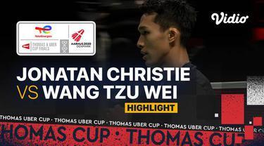 Berita video highlights pertandingan ketiga Indonesia vs Chinese Taipei di Grup A Piala Thomas 2020, di mana Jonatan Christie meraih kemenangan, Rabu (13/10/2021) sore hari WIB.