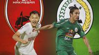 Piala Menpora - Duel Lini Tengah Sutanto Tan Vs Kim Kurniawan (Bola.com/Adreanus Titus)