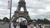 Pemain Liverpool Mohamed Salah Liburan di Paris. (dok.Instagram @mosalah/https://www.instagram.com/p/BWdQ-Wnl0LH/Henry)