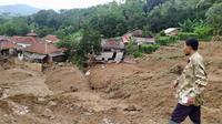Lokasi Longsor di Kecamatan Sukajaya, Kabupaten Bogor, Jawa Barat, Minggu (5/1/2020). (Foto: Achmad Sudarno/Liputan6.com)