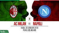 Coppa Italia: AC Milan Vs Napoli (Bola.com/Adreanus Titus)