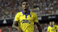 Kevin-Prince Boateng masuk jajaran pencetak gol terbayak sementara dengan dua gol bersama Las Palmas hingga pekan kedua La Liga Spanyol 2016/2017. (EPA/Manuel Bruque)