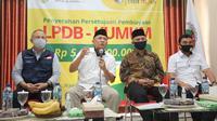 Menteri Koperasi dan UKM Teten Masduki dalam acara Penyerahan Persetujuan Pembiayaan Lembaga Pengelola Dana Bergulir (LPDB) KUMKM.