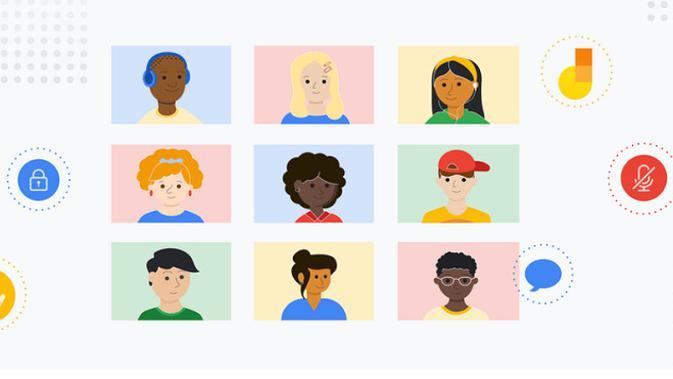 Ilustrasi Google Meet (Doc. Google)