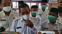 Walikota Serang, Syafrudin, Saat Di Wawancari Awak Media. (Rabu, 21/04/2021). (Liputan6.com/Yandhi Deslatama).