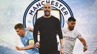 Manchester City - Kevin de Bruyne, Pep Guardiola, Sergio Aguero (Bola.com/Adreanus Titus)