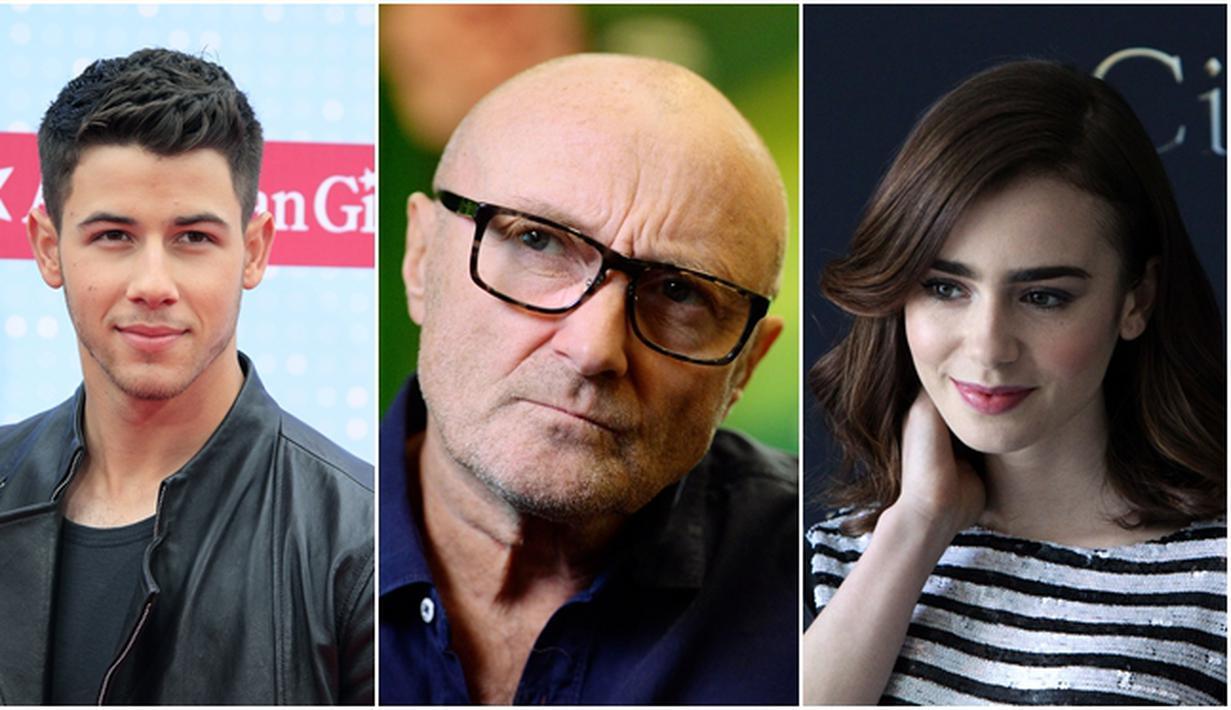 Putri dari penyanyi Phil Collins, Lily Collins dikabarkan tengah memiliki hubungan romantis dengan musisi pop Nick Jonas. Namun penyanyi terkenal ini menegaskan jika putrinya dan Nick Jonas 'hanya teman'. (Bintang/EPA)