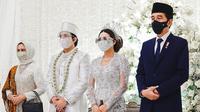 Jokowi dan Iriana Jokowi Pernikahan Atta Halilintar dan Aurel Hermansyah (Instagram/attahalilintar)