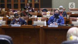 Menteri Riset dan Teknologi Bambang Brodjonegoro menghadiri  rapat kerja di ruang rapat Komisi XI DPR RI, kompleks parlemen, Jakarta, Rabu (3/2/2021).  Vaksin produksi dalam negeri itu saat ini tengah terus dikembangkan. (Liputan6.com/Angga Yuniar)