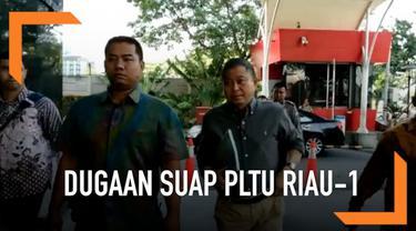 Menteri ESDM Ignasius Jonan memenuhi panggilan KPK. Ia menjadi saksi kasus suap PLTU Riau-1.