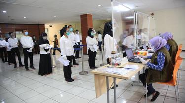 Pemkot Tangerang gelar tes SKB CPNS. (Pramita/Liputan6.com)