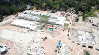 Rumah Sakit Khusus Corona yang di bangun di Kampung Sijantung, Pulau Galang, Kepulauan Riau akan rampung pada Sabtu, 28 Maret 2020. (Liputan6/Ajang Nurdin)