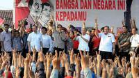 Jokowi terus melakukan kampanye di sejumlah wilayah. Di Bojong Gede, Jokowi disambut ribuan massa (Liputan6.com/Herman Zakharia)