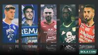 Trivia - 5 Pemain Brwa Nouri, Marko Simic, Matias Malvino, Makan Konate, Nick Kuipers (Bola.com/Adreanus Titus)