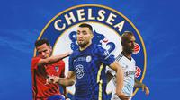 Chelsea - Saul Niguez, Mateo Kovacic, Raul Meireles (Bola.com/Adreanus Titus)