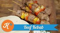 Tak perlu jauh-jauh mencari beef kebab daging domba ke benua lain. Yuk kita coba membuatnya sendiri di rumah. (Foto: Kokiku Tv)