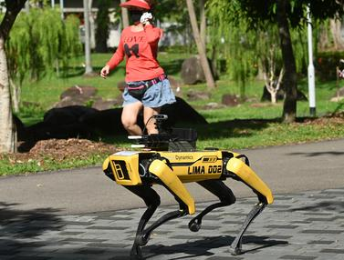 Robot Anjing Patroli Virus Corona di Singapura