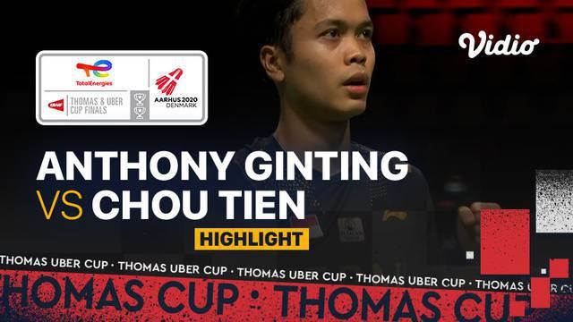 Berita video highlights pertandingan pertama Indonesia vs Chinese Taipei di Grup A Piala Thomas 2020, di mana Anthony Ginting meraih meraih kemenangan, Rabu (13/10/2021) siang hari WIB.