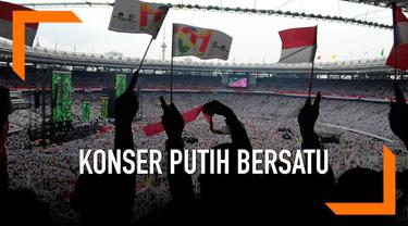 Pasangan Joko Widodo - Ma'ruf Amin gelar kampanye akbar di Stadion Gelora Bung Karno Sabtu (13/4) siang, Dihadiri ribuan pendukungnya yang dominan mengenakan pakaian putih.