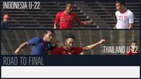 Perjalanan Timnas Indonesia U-22 dan Thailand U-22 menuju final Piala AFF U-22 2019. (Bola.com/Wiwig Prayugi)