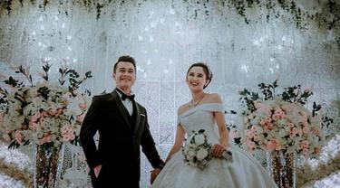 Eza Gionino kini telah menjalani kehidupan baru sebagai sepasang suami istri dengan kekasihnya Meiza Aulia Coritha atau Echa. (Liputan6.com/IG/ma_coritha)