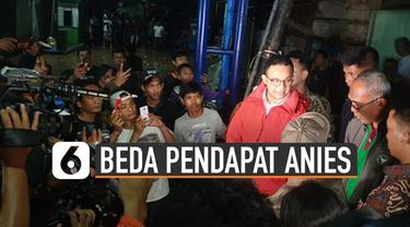 Menteri PUPR Basuki dan Gubernur DKI Jakarta Anies silang pendapat terkait penanganan Kali Ciliwung.