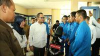Menteri Ketenagakerjaan (Menaker) Hanif Dhakiri Balai Besar Pengembangan Latihan Kerja (BBPLK) Serang, Banten.