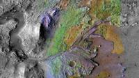 Kawah Jezero: Situs Pendaratan untuk Misi Mars 2020. (NASA/JPL-Caltech/MSSS/JHU-APL)