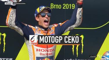 Pembalap Repsol Honda, Marc Marquez jadi yang tercepat di MotoGP Ceko hari Minggu (4/8). Kemenangan Marquez juga sekaligus cetak rekor bagi kariernya di seri balapan premier.