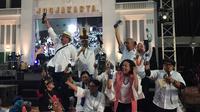 Elek Yo Band, yang dimotori sejumlah menteri Kabinet Kerja era pemerintahan Presiden Jokowi