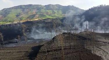 Kawah Sileri, Batur, Banjarnegara, Jawa Tengah usai erupsi freatik. (Foto: Liputan6.com/BPBD BNA)